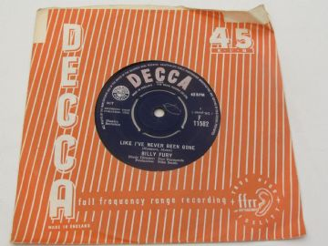 "Billy Fury LIKE I'VE NEVER BEEN GONE (1) 1963 UK 7"" EX AUDIO"